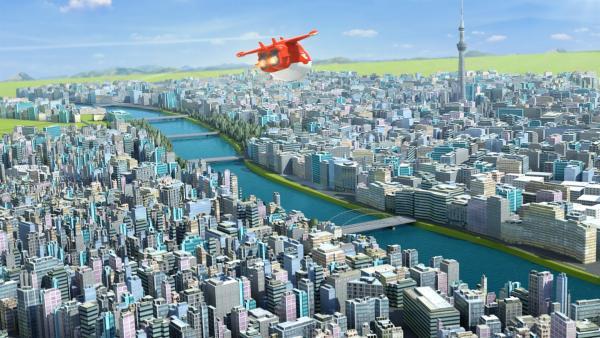 Jett im Anflug auf Tokio | Rechte: KiKA/FunnyFlux/QianQi/EBS/CJ E&M