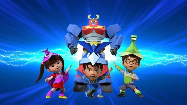 Für ihre Freundin haben sie einen Origamihelden gebastelt.   Rechte: KiKA/FunnyFlux/QianQi/EBS/CJ E&M