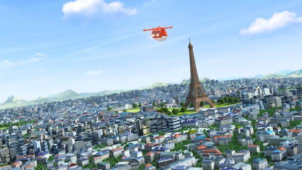 Jett fliegt nach Paris zu Martine. | Rechte: KiKA/FunnyFlux/QianQi/EBS/CJ E&M