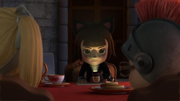 Brigita erzählt ihren Freunden Gruselgeschichten. | Rechte: KiKA/FunnyFlux/QianQi/EBS/CJ E&M