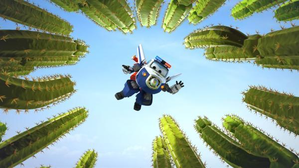 Paul muss die Piñatas aus dem Kakteengarten retten. | Rechte: KiKA/FunnyFlux/QianQi/EBS/CJ E&M