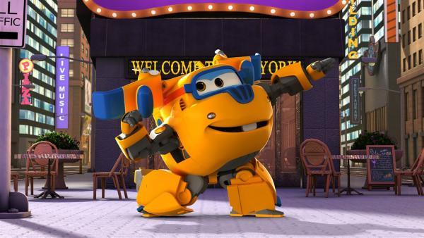 Donnie ist bereit und baut den Kindern eine große Bühne. | Rechte: KiKA/FunnyFlux/QianQi/EBS/CJ E&M