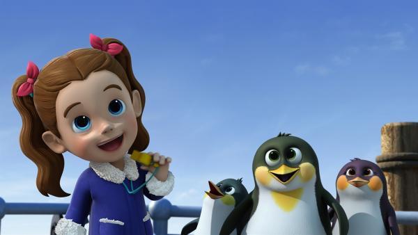 Ella will drei verirrte Pinguine zurück nach Hause bringen.   Rechte: KiKA/FunnyFlux/QianQi/EBS/CJ E&M