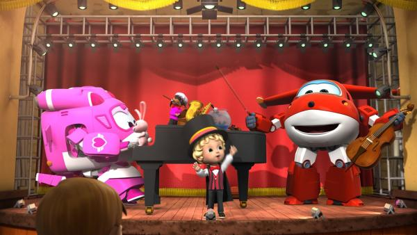 Gemeinsam mit Dizzy gestalten Moritz und Jett eine grandiose Zaubervorstellung. | Rechte: KiKA/FunnyFlux/QianQi/EBS/CJ E&M