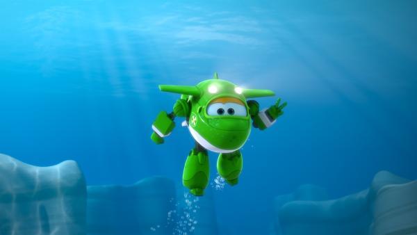 Unterwasserflugzeug Mira eilt zu Hilfe. | Rechte: KiKA/FunnyFlux/QianQi/EBS/CJ E&M
