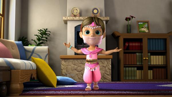 Ecrin wünscht sich eine Prinzessin aus Tausendundeiner Nacht zu sein. | Rechte: KiKA/FunnyFlux/QianQi/EBS/CJ E&M