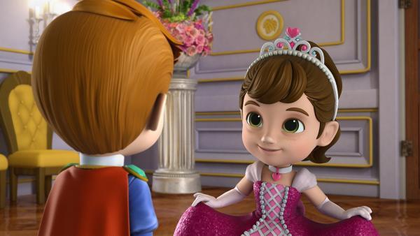 Colette lernt auf dem Märchenball Prinz Émile kennen. | Rechte: KiKA/FunnyFlux/QianQi/EBS/CJ E&M