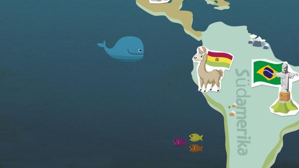 grafische Darstellung von Südamerika | Rechte: KiKA