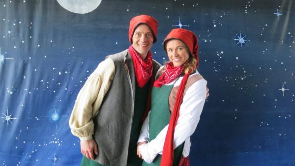 Singa und Alex als Heinzelmännchen | Rechte: Franzsika Rülke/ZDF/KiKA