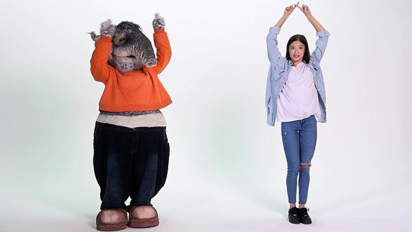 TanzTapir und Tänzerin Lara | Rechte: KiKA
