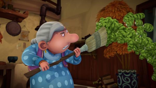 Ömchen verteidigt ihr Haus vor den widerlichen Frespen. | Rechte: KiKA/Flying Bark Productions Pty Ltd.