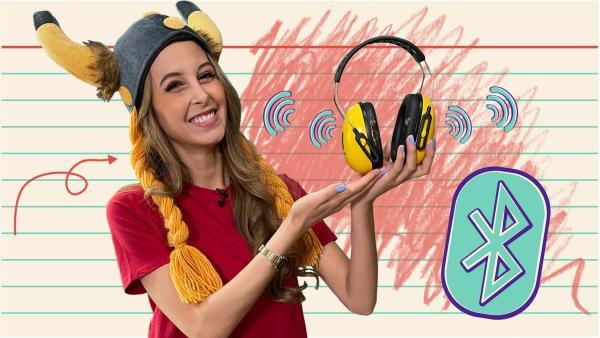 Soraya erklärt, wie kabellose Kopfhörer funktionieren und was ein Wikinger damit zu tun hat. | Rechte: KiKA