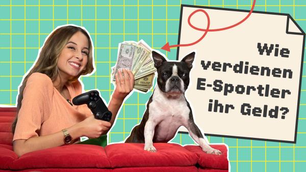 Zuschauer Moritz will wissen, wie E-Sportler ihr Geld verdienen. Soraya antwortet ihm.