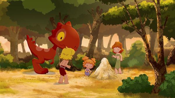 Koris rote Ameisen bringen Tib auf eine Idee.   | Rechte: KiKA/hr/TF1/GO-N Productions