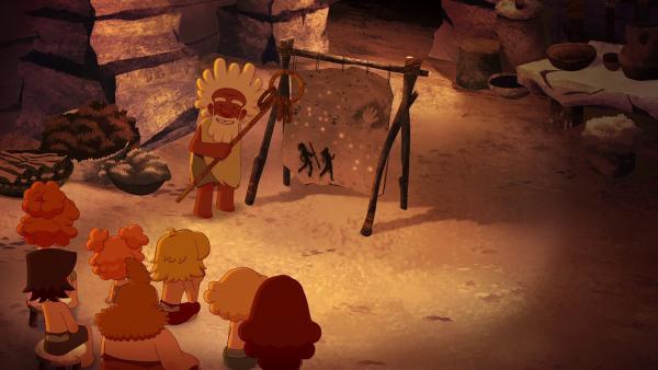 Aron erzählt von einer legendären himmlischen Höhle.   | Rechte: KiKA/hr/TF1/GO-N Productions