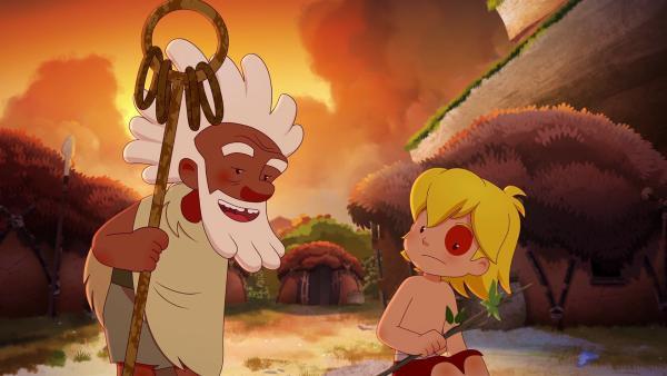 Aron tröstet Tib, der mal wieder von Lad ausgeschlossen wurde. Aron bringt Tib auf eine Idee.  | Rechte: KiKA/hr/TF1/GO-N Productions