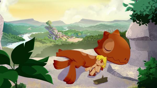 Tumtum hat den kranken Tib so sehr vermisst, dass er seinem Freund nicht mehr von der Seite weicht. | Rechte: KiKA/hr/TF1/GO-N Productions