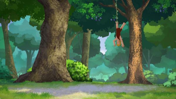 Tom will den Kindern auf einem Ausflug in den Wald beibringen, wie man in der Natur überlebt und Gefahren begegnet.   Rechte: KiKA/hr/TF1/GO-N Productions