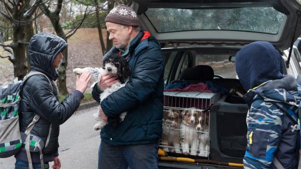 Ein Mann (Christian von Richthofen) verkauft auf der Straße kleine Hunde. Kann man ihm trauen? | Rechte: SWR/Maria Wiesler