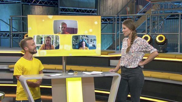 Amelie Stiefvatter und Teampate Mathias Mester mit den Tigerenten vom Gymnasium Hohenbaden aus Baden-Baden (Baden-Württemberg) | Rechte: SWR