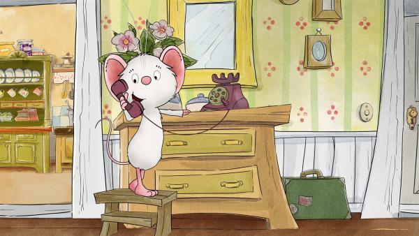 Tilda ruft ihren Freund Rupert an. | Rechte: MDR/WunderWerk