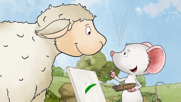 Das Schaf Patrick ist schrecklich neugierig.   Rechte: MDR/WunderWerk
