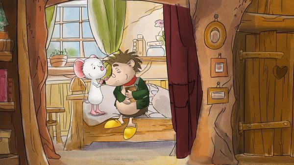 Tilda gibt Rupert eine wohltuende Nasenmassage. | Rechte: MDR/WunderWerk