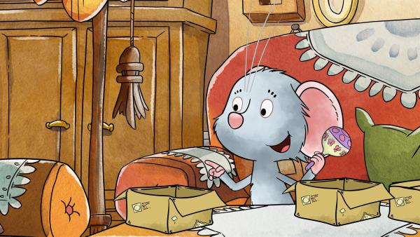 Die Postmaus Molly ist Tilda eigentlich sehr ähnlich – aber sie macht sich ständig über irgendetwas Sorgen. Vielleicht liegt das daran, dass ihr Fell so grau ist? | Rechte: MDR/WunderWerk
