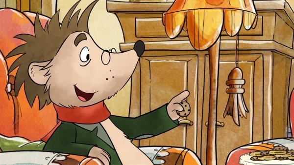 Rupert isst Kekse, die Tilda gebacken hat. | Rechte: MDR/WunderWerk