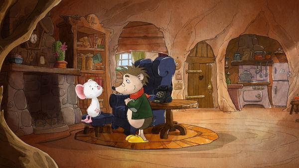 Rupert beruhigt die besorgte Tilda.   Rechte: MDR/WunderWerk