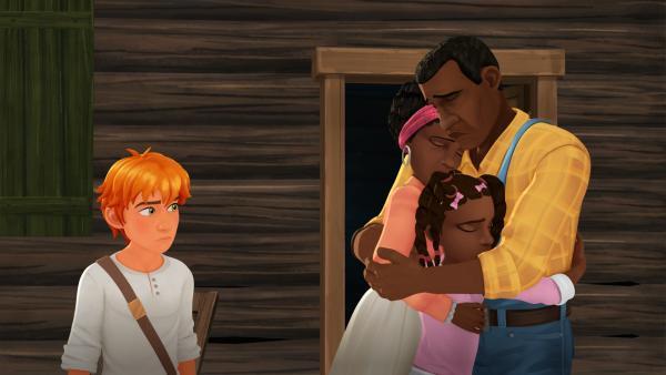 Tom sucht nach einer Lösung. Was kann er tun, damit Jenny und ihre Familie nicht wegziehen müssen?   Rechte: HR/2019 Cyber Group