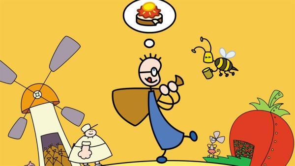 Tom träumt täglich von einem Erbeermarmeladebrot mit Honig. | Rechte: SWR/Hykade