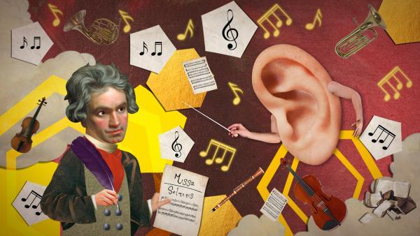 Finde die Teile und sortiere Beethovens Musikstück | Rechte: KiKA