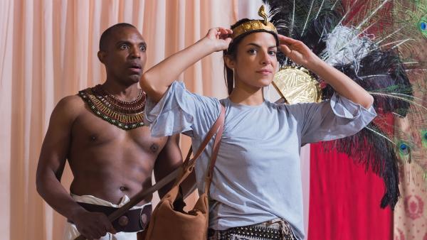Auf ihrer Zeitreise gelangt Clarissa nach Ägypten, ins Reich der Pharaonen. | Rechte: KiKA/Sabine Finger