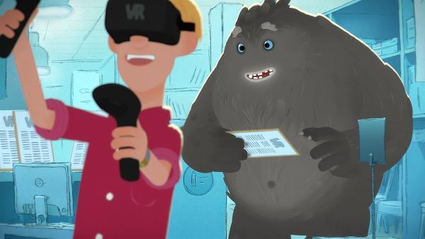 Das Tier will auch in der wunderbaren Welt der virtuellen Realität unterwegs sein. | Rechte: WDR/Studio Soi