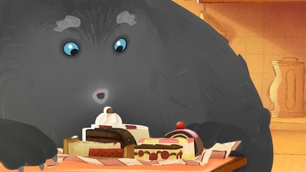 Trudes Vater kommt zu Besuch und hat Kuchen mitgebracht. | Rechte: WDR/Studio Soi