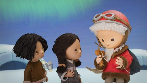 Das Sandmännchen zeigt den Kindern ein Spiel. | Rechte: rbb media