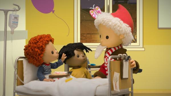 Der Sandmann besucht auch die Kinder im Krankenhaus. | Rechte: rbb media