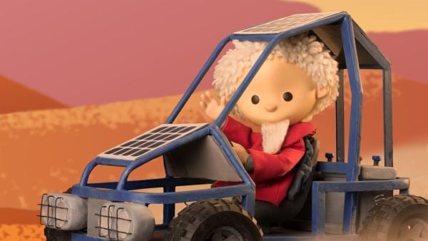 Gute Fahrt! Der Sandmann ist heute im Solarmobil unterwegs! | Rechte: rbb media
