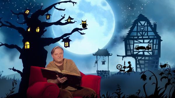 "Axel Prahl erzählt das Märchen ""Frau Holle"". | Rechte: rbb/Hanna Boussouar"