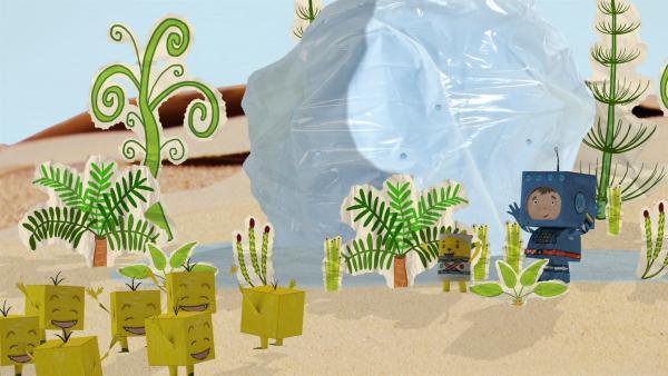 Timmi besucht den Wüstenplaneten. | Rechte: rbb/MDR/MotionWorks GmbH