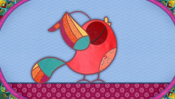 Der Vogel auf meiner Schmusedecke ist wirklich besonders schön.   Rechte: rbb/Studio FILM BILDER