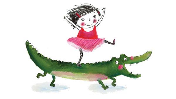 Rita ist ein kleines, sehr entschlossenes Mädchen. Sie hat einen sehr hungrigen Freund, das Krokodil.   Rechte: rbb/dansk tegnefilm