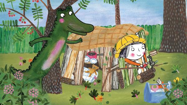 Eine Hütte in Omas Garten, davon träumt Rita. | Rechte: rbb/dansk tegnefilm