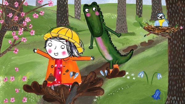 Es wird Frühling! Doch Rita interessieren vor allem die Pfützen. | Rechte: rbb/dansk tegnefilm