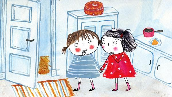 Rita hat ihre neue Freundin Susanne eingeladen. | Rechte: rbb/dansk tegnefilm