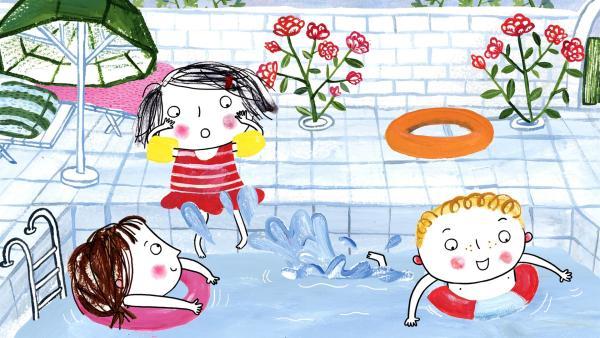 Rita muss alleine ins Freibad, keine Tiere erlaubt | Rechte: rbb/dansk tegnefilm