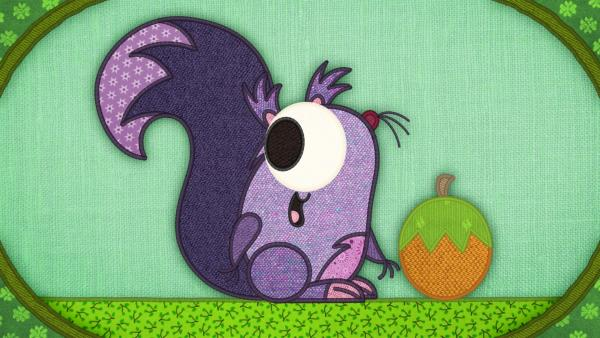 Das Eichhörnchen auf meiner Schmusedecke hat ein Problem: Es möchte alle Nüsse für sich allein! | Rechte: rbb/Studio FILM BILDER