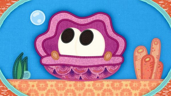 Die Muschel auf meiner Schmusedecke hat ein Problem: Sie ist viel zu schüchtern. | Rechte: rbb/Studio FILM BILDER