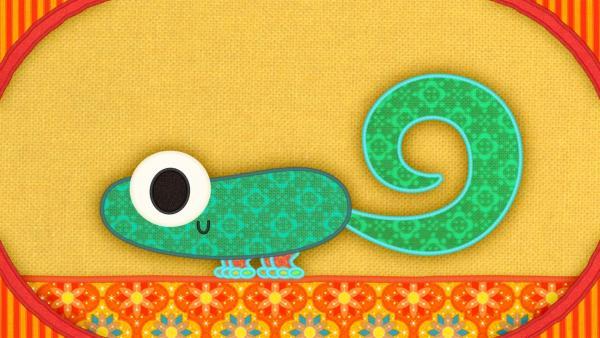 Der Gecko auf meiner Schmusedecke.   Rechte: rbb/Studio FILM BILDER